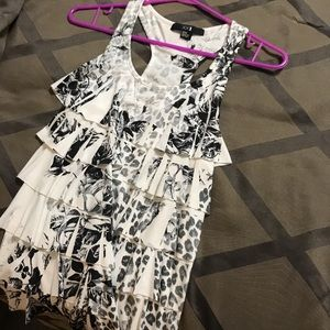 Forever21 floral ruffle tank